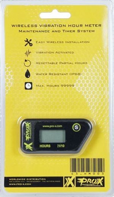 HOUR METER WIRELESS VIBRATION EASY INSTALL PROX PARTS