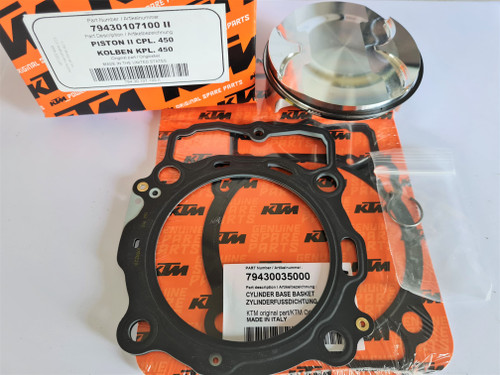 KTM 450 SX-F 2016-2020 OEM TOP END REBUILD KIT #79430107110