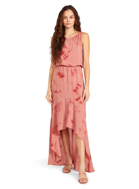 Shoulder Rush Dress in Red Clay