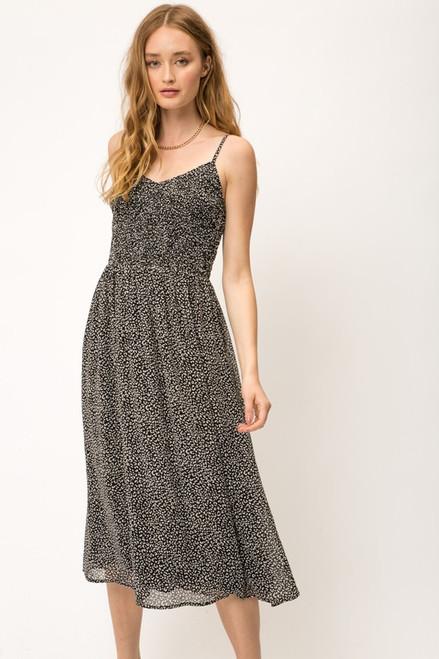 Smocked  Midi Cami Dress