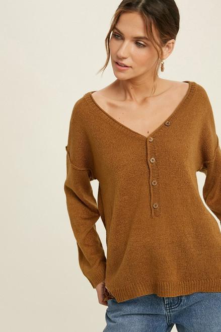 Gucci Button V-Neck Sweater