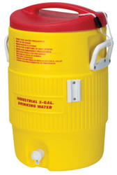 Heat Stress Solution Water Coolers, 5 Gallon, Red and Yellow