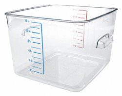 """11-3/4"""" x 10-1/2"""" x 7-3/4"""" Co-Polyester Space Saving Storage Container, Clear"""
