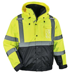 8381 Type R Class 3 Performance 3-in-1 Bomber Jacket Lime, 2X-Large