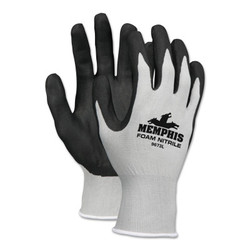 Foam Nitrile Gloves, X-Large, Black/Gray