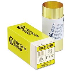 """Brass Shim Stock Rolls, 0.1, Brass, 0.002"""" X 100"""" X 6"""""""