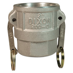 Andrews Type D Cam and Groove Couplers, 3 in (NPT) Female, Aluminum