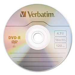 DVD-R Discs, 4.7GB, 16x, Spindle, Silver, 100/Pack 95102