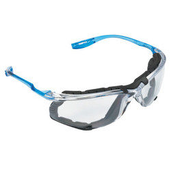 3M 10078371662704 Virtua CCS Protective Eyewear with Foam Gasket and Reader Lens, Blue with Clear Lens