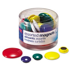 Assorted Magnets, Circles, Assorted Sizes & Colors, 30/Tub 92500