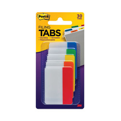 """2"""" and 3"""" Tabs, 1/5-Cut Tabs, Assorted Primary Colors, 2"""" Wide, 30/Pack 686ROYGB"""