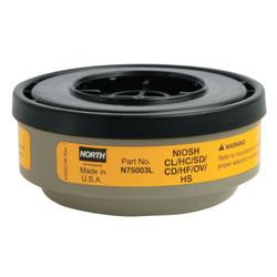 North by Honeywell Respirator Cartridge, Yellow, Pr (N75003L)