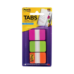 """1"""" Tabs, 1/5-Cut Tabs, Assorted Brights, 1"""" Wide, 66/Pack 686-PGO"""
