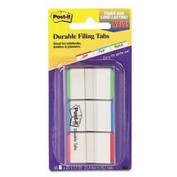 "1"" Tabs, 1/5-Cut Tabs, Lined, Assorted Primary Colors, 1"" Wide, 66/Pack 686L-GBR"