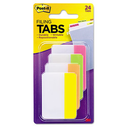 """2"""" and 3"""" Tabs, 1/5-Cut Tabs, Assorted Brights, 2"""" Wide, 24/Pack 686-PLOY"""