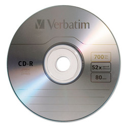CD-R Discs, 700MB/80min, 52x, Spindle, Silver, 100/Pack 94554