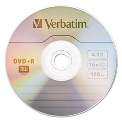 DVD+R Discs, 4.7GB, 16x, Spindle, 100/Pack 95098