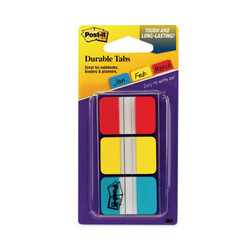 """1"""" Tabs, 1/5-Cut Tabs, Assorted Primary Colors, 1"""" Wide, 66/Pack 686-RYB"""
