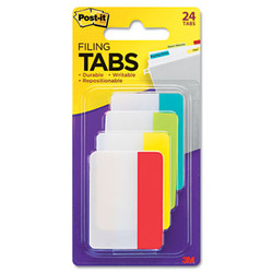 """2"""" and 3"""" Tabs, 1/5-Cut Tabs, Assorted Colors, 2"""" Wide, 24/Pack 686-ALYR"""