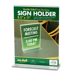 Acrylic Sign Holder, 8 1/2 x 11, Clear 38020