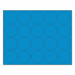 """Interchangeable Magnetic Board Accessories, Circles, Blue, 3/4"""", 20/Pack FM1601"""