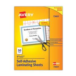 Avery Sheet,Laminate,9x12,50/Bx 73601