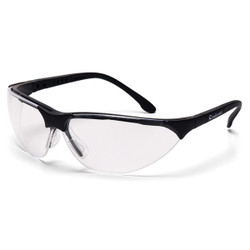 Black Frame/Clear Anti-Fog Lens