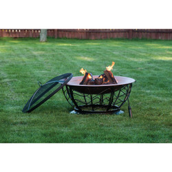 Outdoor Expressions 30 In. Coppertone Round Steel Fire Pit FT-114(2)