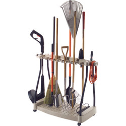 Suncast 42 In. Long Handle Tool Rack with Wheels RTC1000