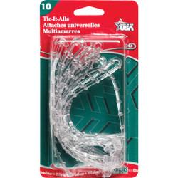 Adams 12 In. Clear Plastic Garland Tie (10-Pack) 8710061040