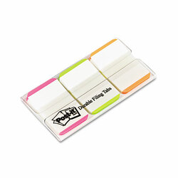 """1"""" Tabs, 1/5-Cut Tabs, Lined, Assorted Brights, 1"""" Wide, 66/Pack 686L-PGO"""