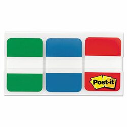 """1"""" Tabs, 1/5-Cut Tabs, Assorted Primary Colors, 1"""" Wide, 66/Pack 686GBR"""