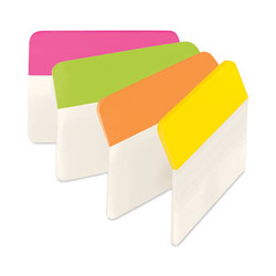 "2"" Angled Tabs, 1/5-Cut Tabs, Assorted Brights, 2"" Wide, 24/Pack 686A-PLOY"