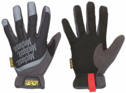 Leather,  Mechanics Gloves,  M,  Black,  Synthetic Leather Palm Material,  1 PR