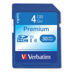 4GB Premium SDHC Memory Card, UHS-I U1 Class 10, Up to 30MB/s Read Speed 96171