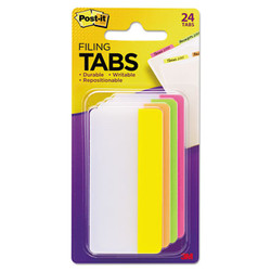 """2"""" and 3"""" Tabs, 1/3-Cut Tabs, Assorted Brights, 3"""" Wide, 24/Pack 686-PLOY3IN"""