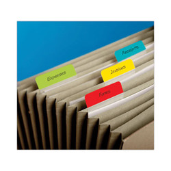 "2"" Angled Tabs, 1/5-Cut Tabs, Assorted Colors, 2"" Wide, 24/Pack 686A-ALYR"