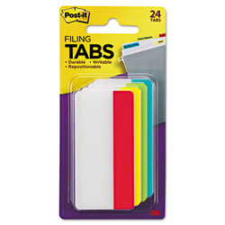 """2"""" and 3"""" Tabs, 1/3-Cut Tabs, Assorted Colors, 3"""" Wide, 24/Pack 686ALYR3IN"""