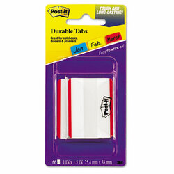 """2"""" and 3"""" Tabs, Lined, 1/5-Cut Tabs, Red, 2"""" Wide, 50/Pack 686F-50RD"""