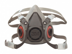 3M Half Facepiece Reusable Respirator 6100, Respiratory Protection, Small (Pack of 1)