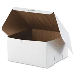 Tuck-Top Bakery Boxes, 10w x 10d x 5 1/2h, White, 100/Carton 0977
