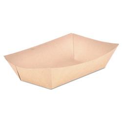 Food Trays, Paperboard, Brown Kraft, 5-Lb Capacity, 500/Carton 0529