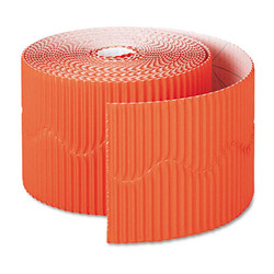 "Bordette Decorative Border, 2 1/4"" x 50' Roll, Orange 37106"