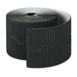 "Bordette Decorative Border, 2 1/4"" x 50' Roll, Black 37306"
