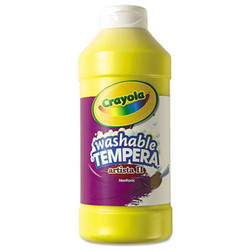 Artista II Washable Tempera Paint, Yellow, 16 oz 54-3115-034