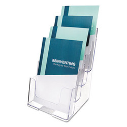 4-Compartment DocuHolder, Booklet Size, 6.88w x 6.25d x 10h, Clear 77901