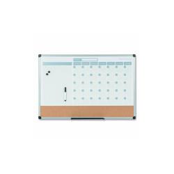 3-in-1 Calendar Planner Dry Erase Board, 24 x 18, Aluminum Frame MB3507186