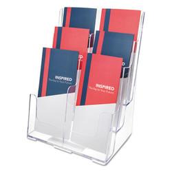 6-Compartment DocuHolder, Leaflet Size, 9.63w x 6.25d x 12.63h, Clear 77401