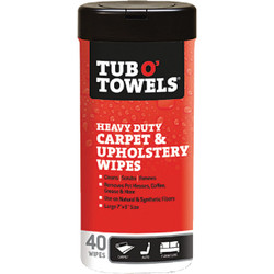 Tub O' Towels Carpet/Upholstery Scrubbing Wipes (40 Count) TW40-CP