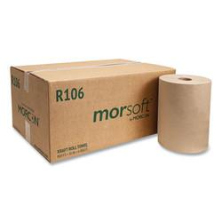 "10 Inch Roll Towels, 1-Ply, 10"" x 800 ft, Kraft, 6 Rolls/Carton R106"